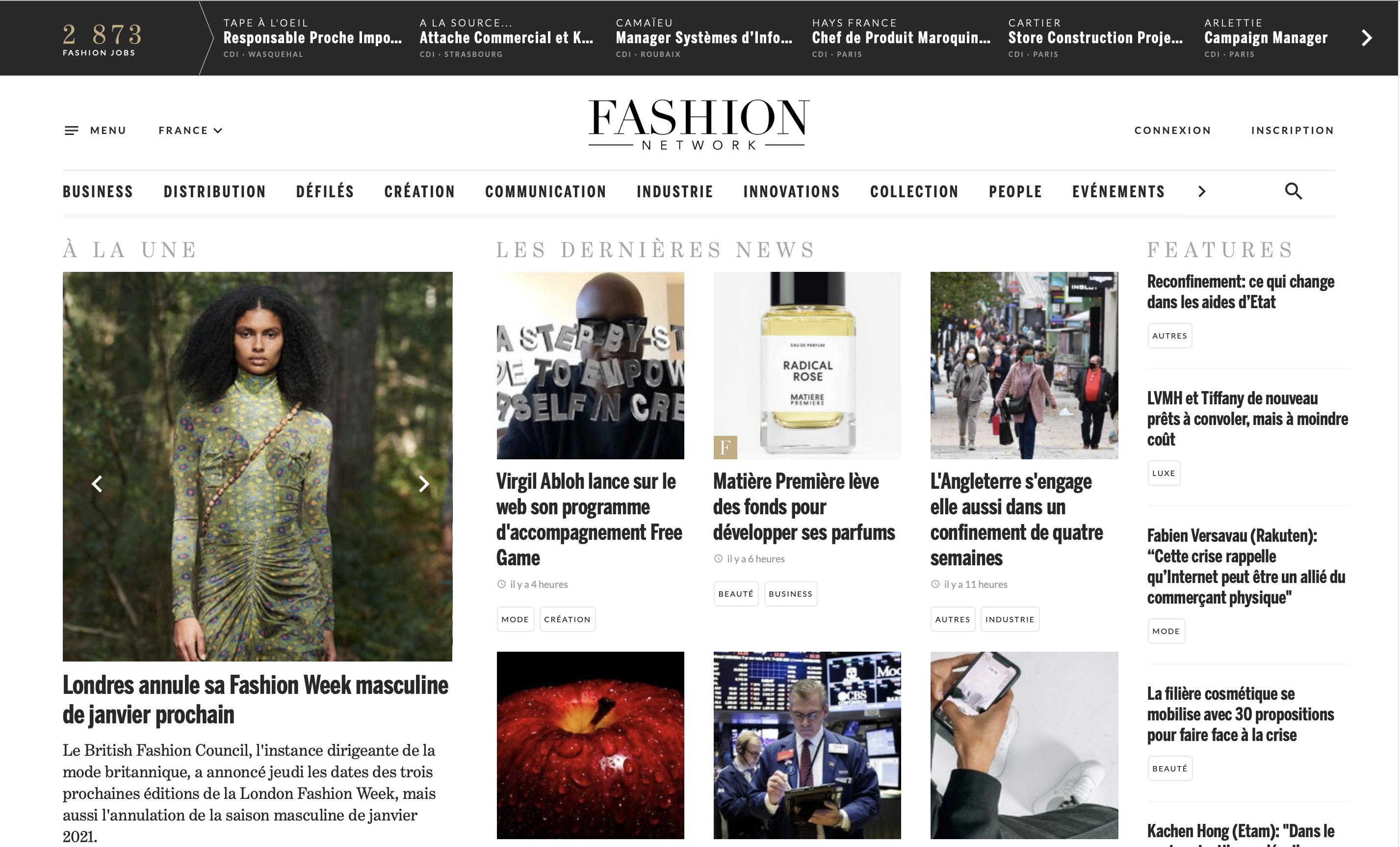 Top 5 de mes médias préférés sur l'industrie textile